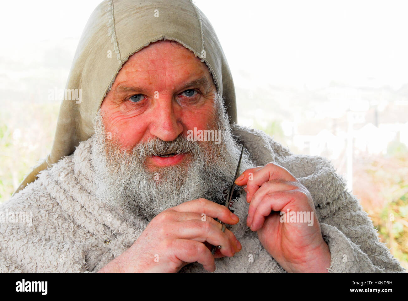 Mr Trauts plans to give his beard the 'chop' on 1st April (SEE ASSOCIATED STORY) - Stock Image