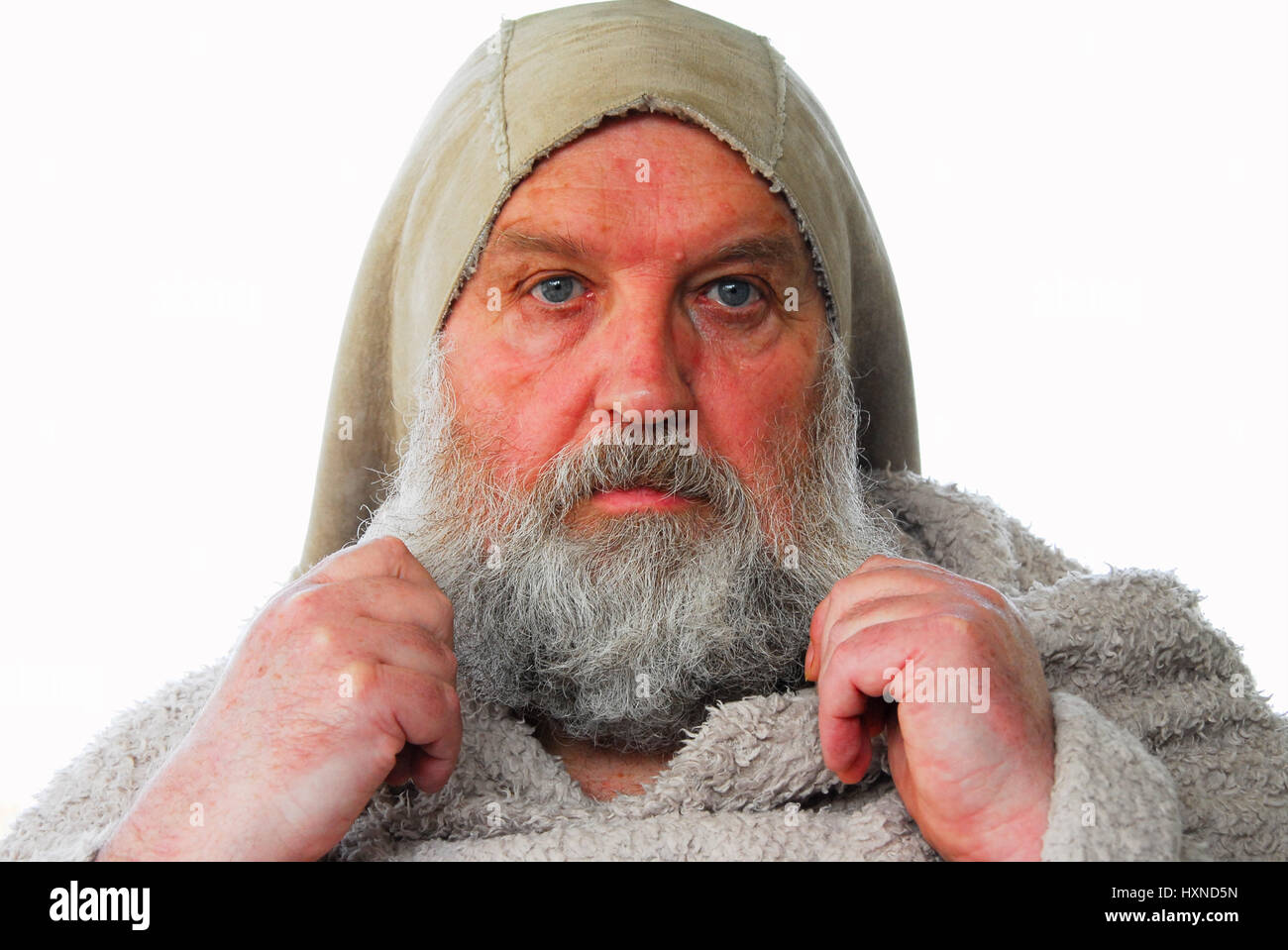 Mr Trauts dressed as a medieval monk  , by his wife (SEE ASSOCIATED STORY) - Stock Image