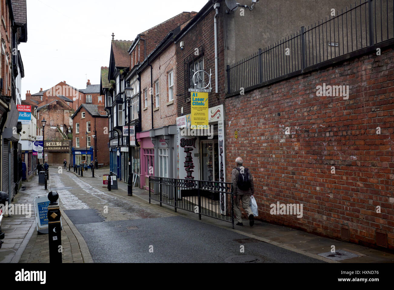 A dilapidated street in Stockport, Greater Manchester - Stock Image