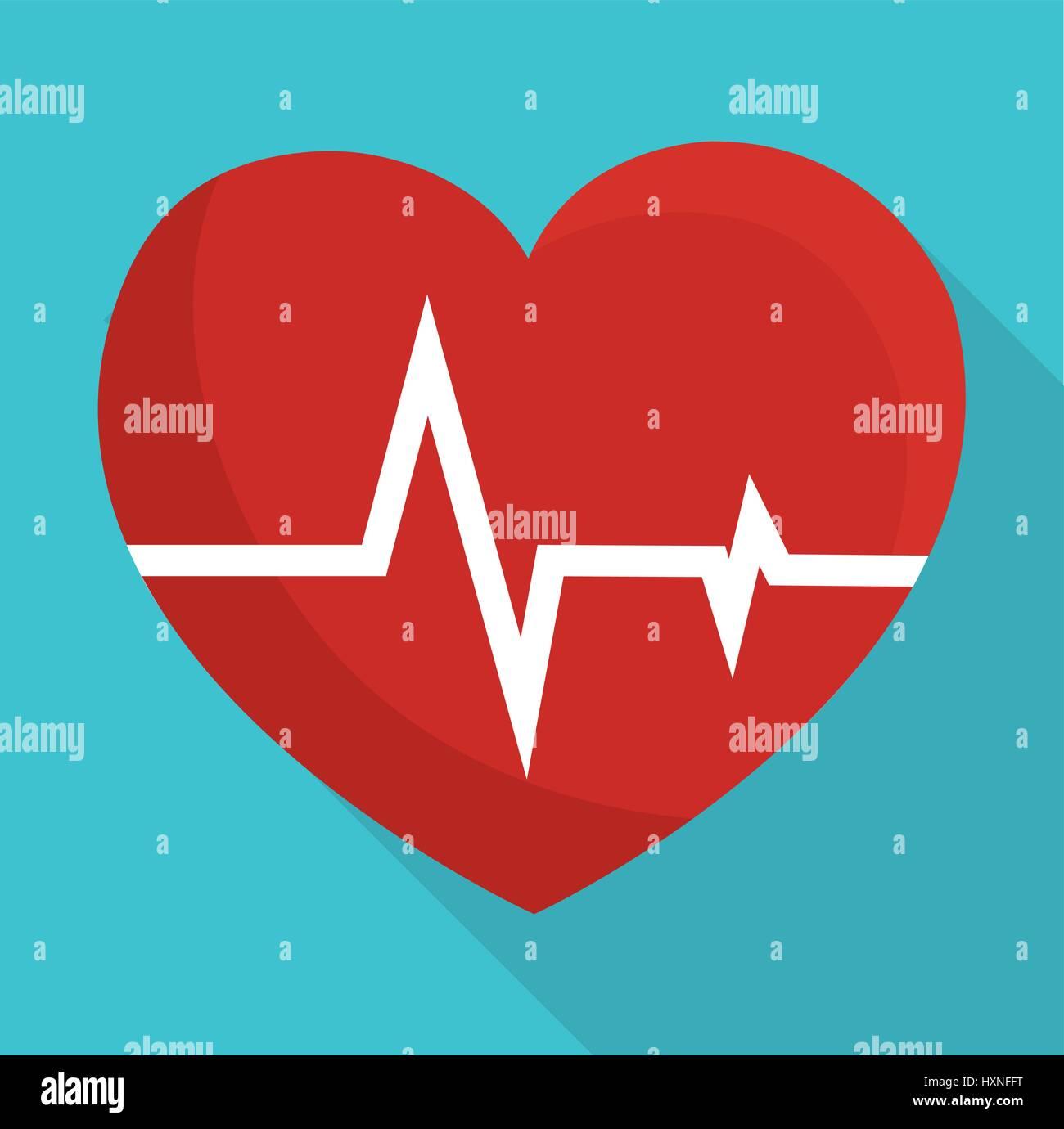 cardio heart icon - Stock Image