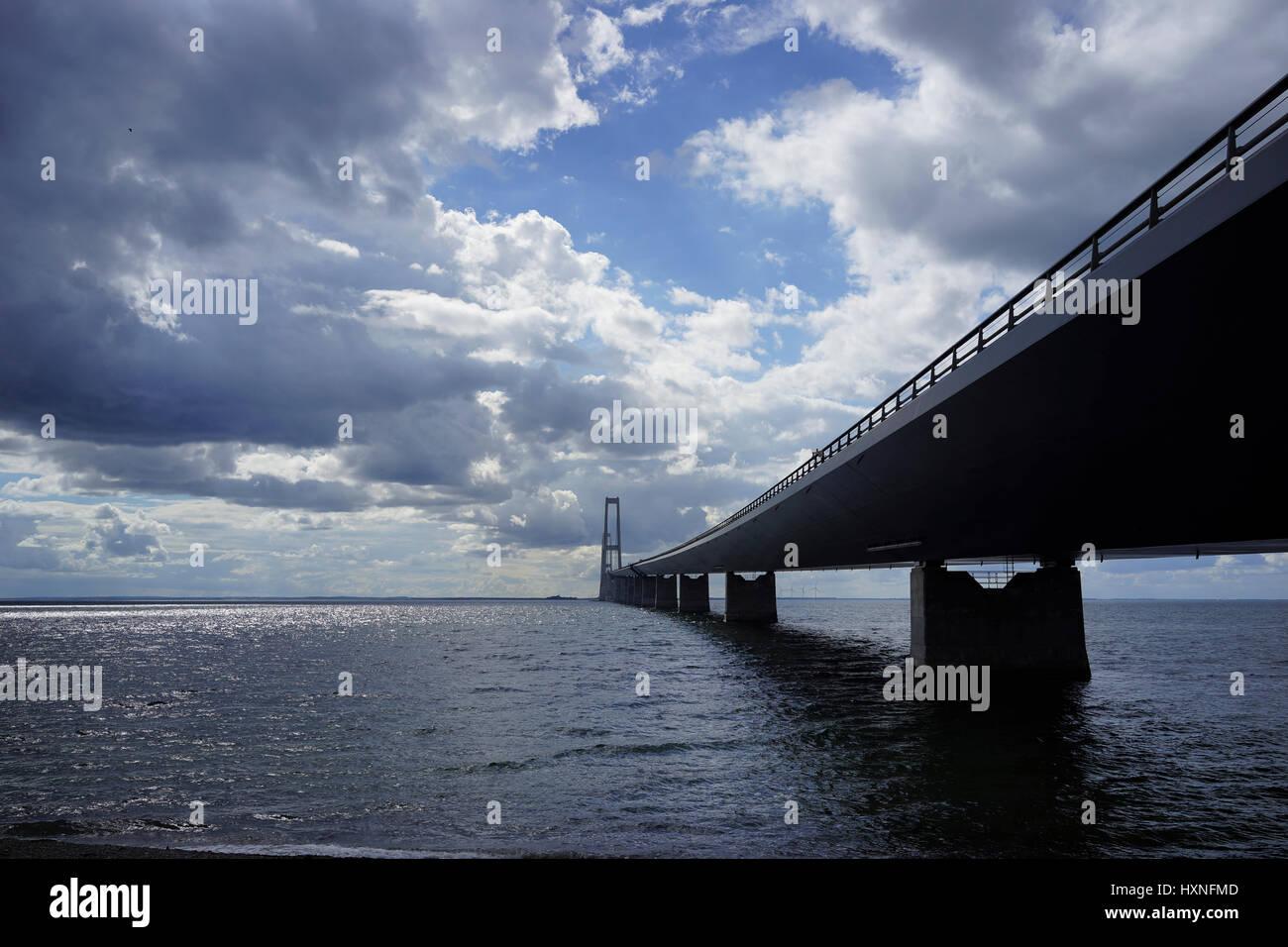Brück über den Storebelt, Dänemark Stock Photo