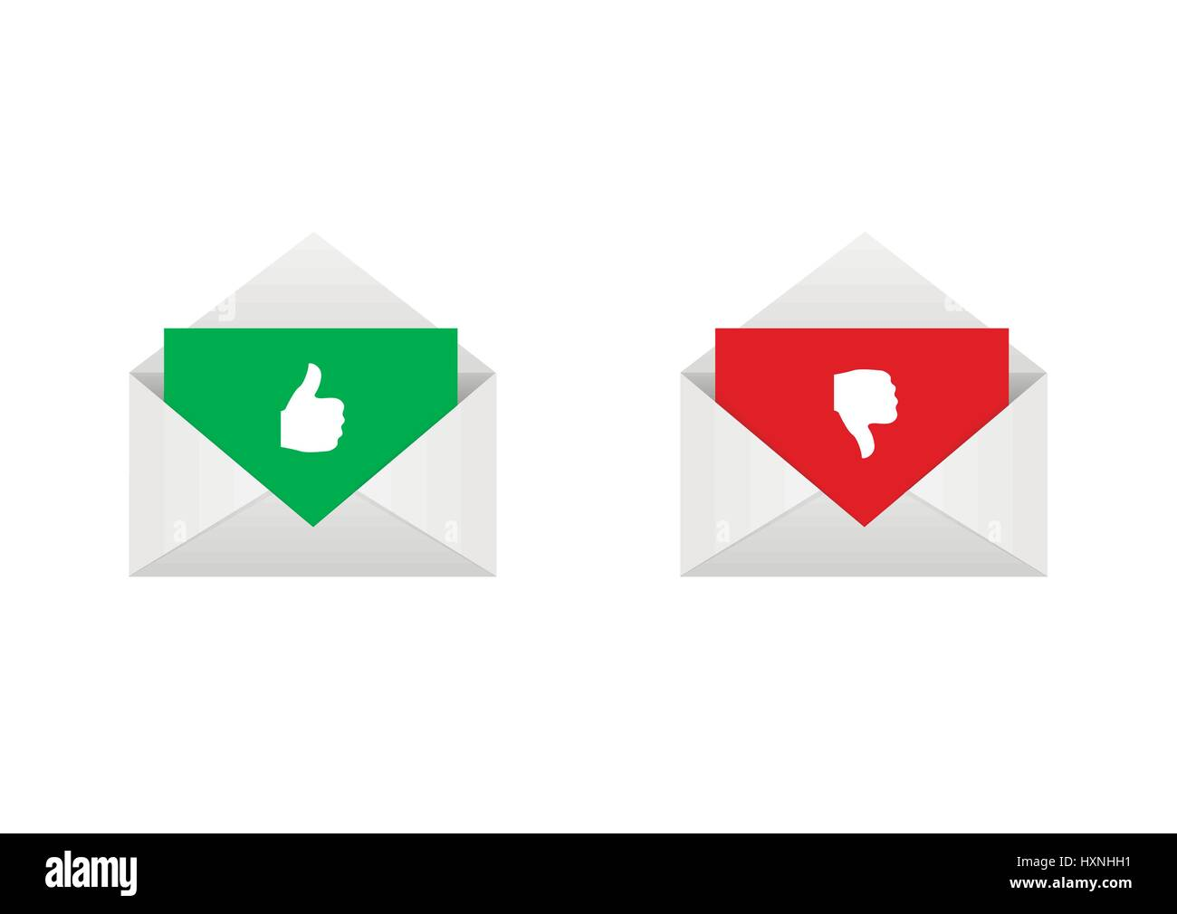 Approved and rejected letters - Stock Vector