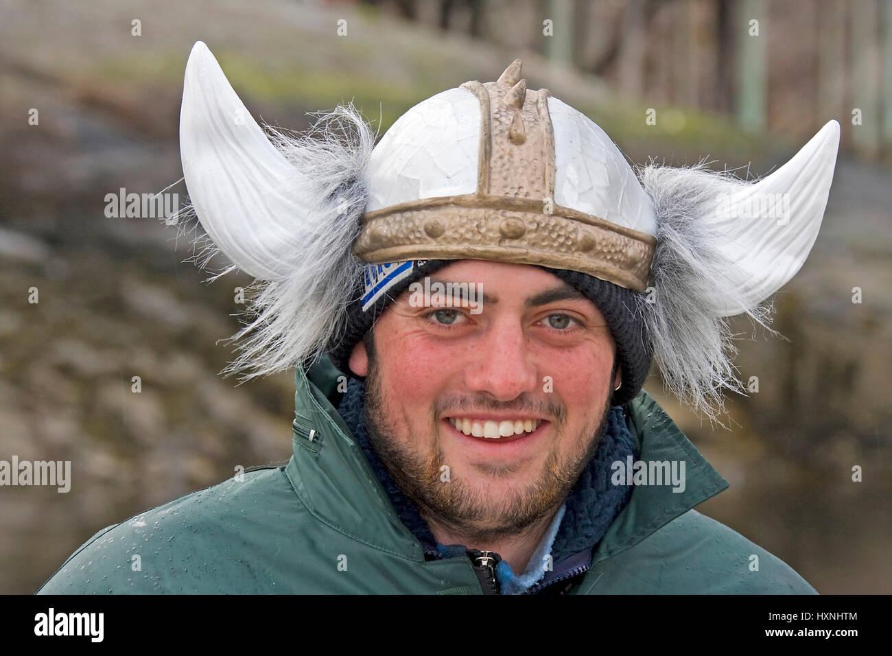 Of modern Vikings, Lofoten , Moderner Wikinger - Stock Image