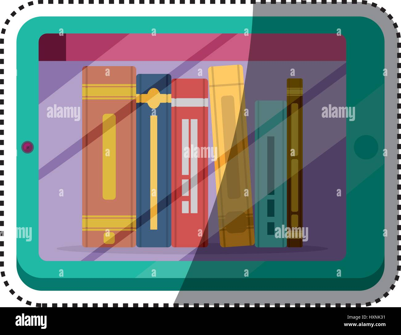 e-books, books purchase and download - Stock Image