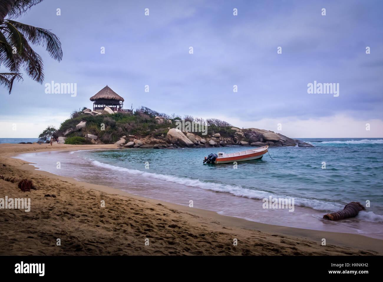 Beach hut at Cabo San Juan - Tayrona Natural National Park, Colombia - Stock Image