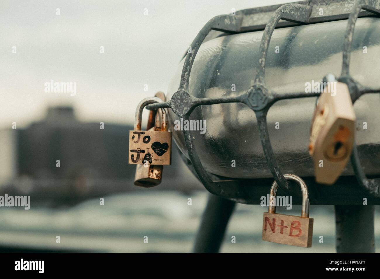 Love locks - Stock Image