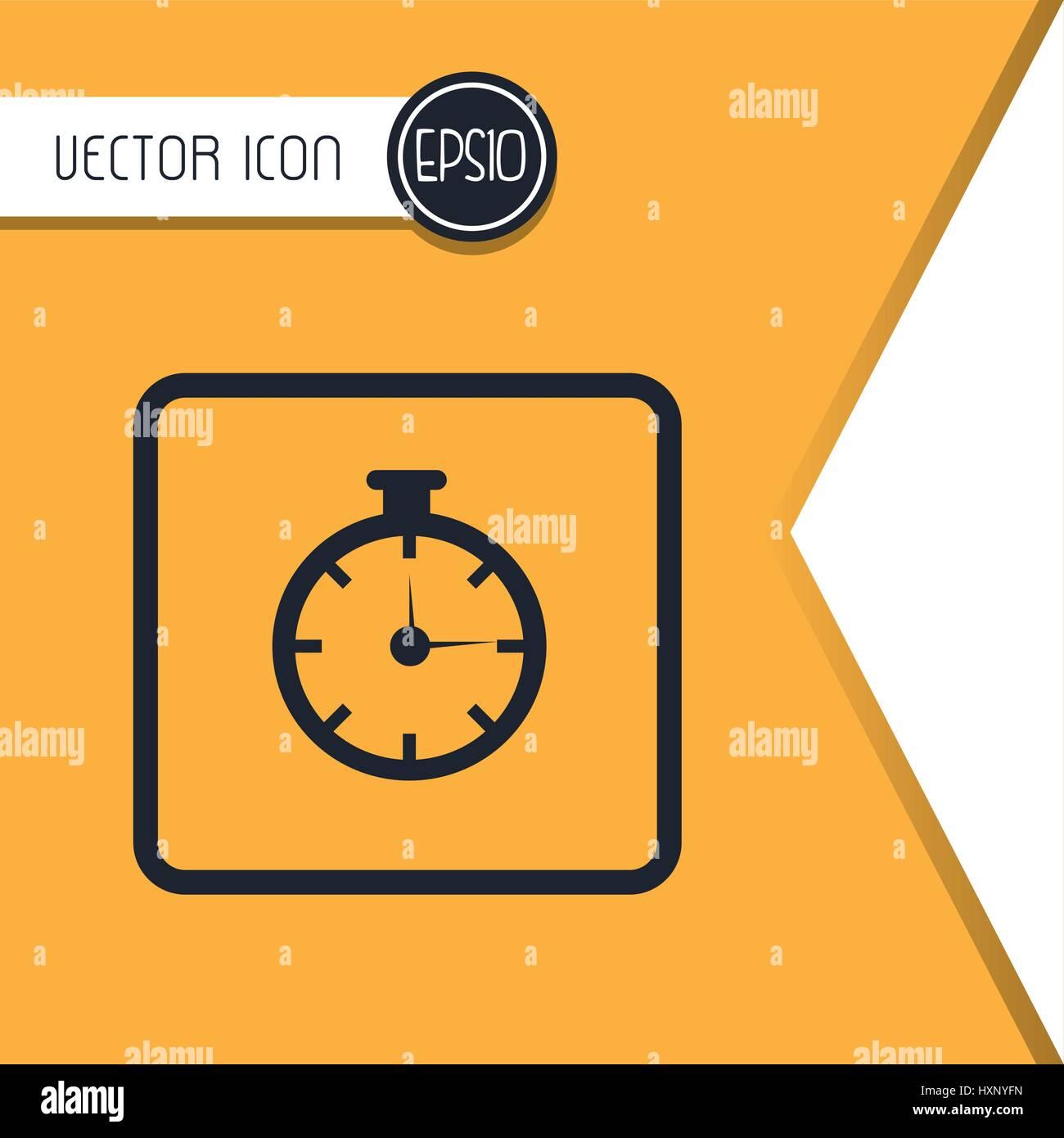 chronometer  icon design  - Stock Image