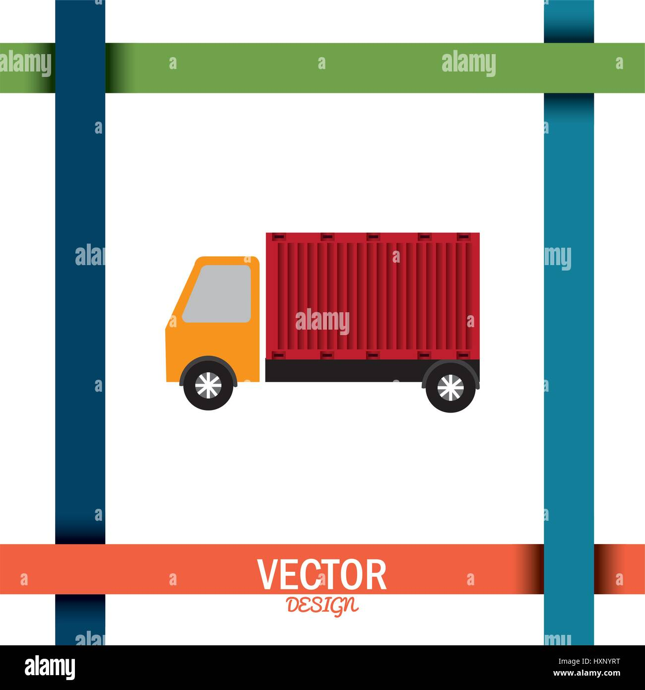 delivery service design  - Stock Image