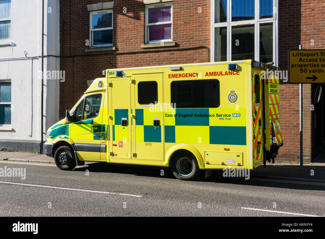 An ambulance from the East of England Ambulance Service NHS Trust.. - Stock Image