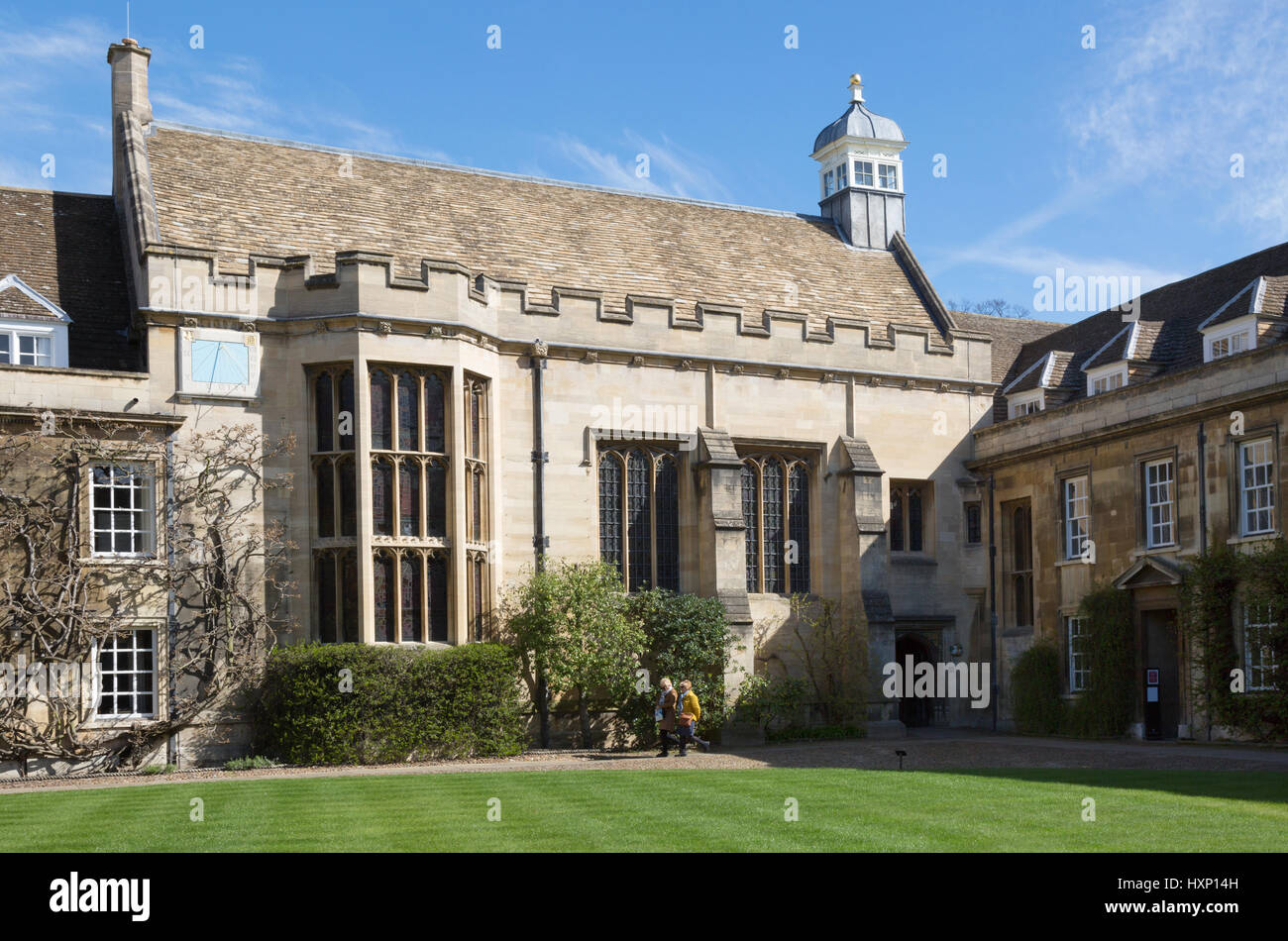 Christs College Cambridge University Cambridge UK - the Hall, First Court - Stock Image