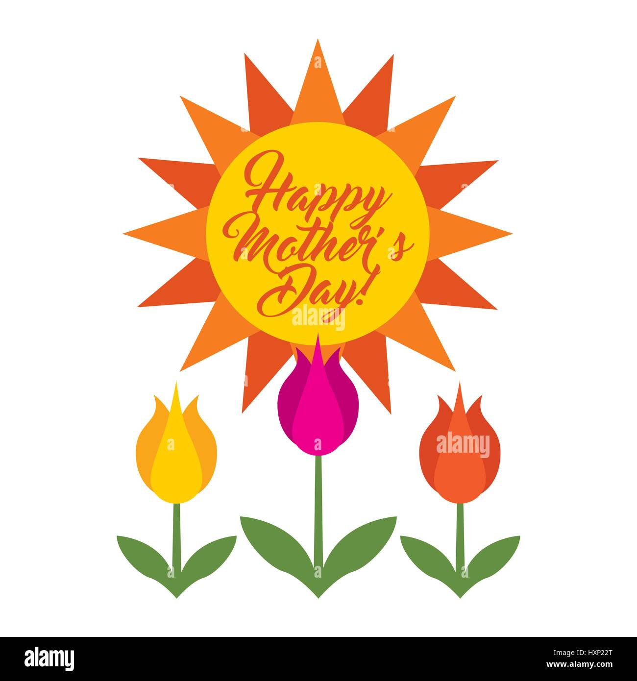 happy mothers day celebration card - Stock Vector