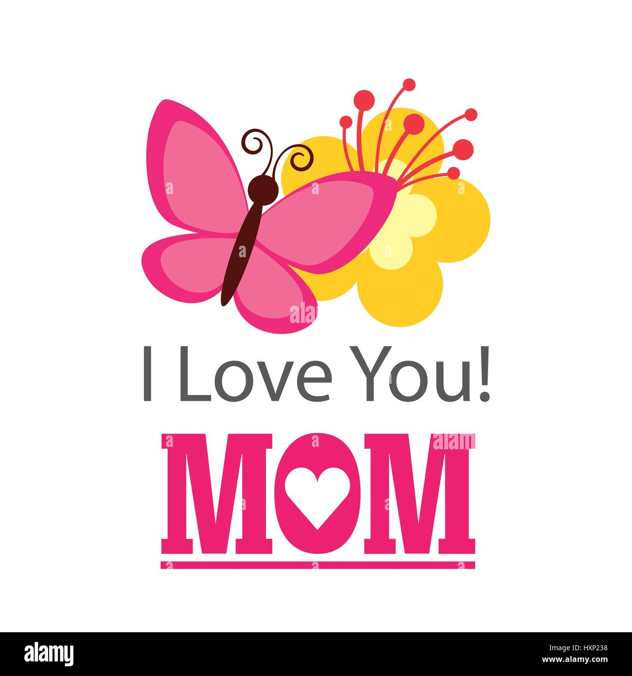 I Love You Mom Stock Vector Images Alamy