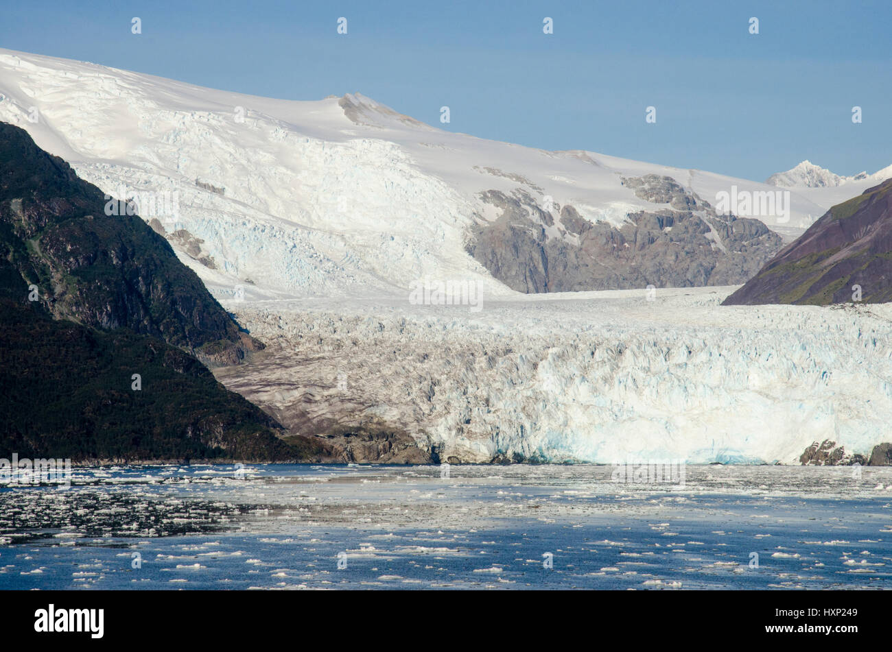 Chile - Amalia Glacier On The Edge Of The Sarmiento Channel - Skua Glacier - Bernardo O'Higgins National Park - Stock Image