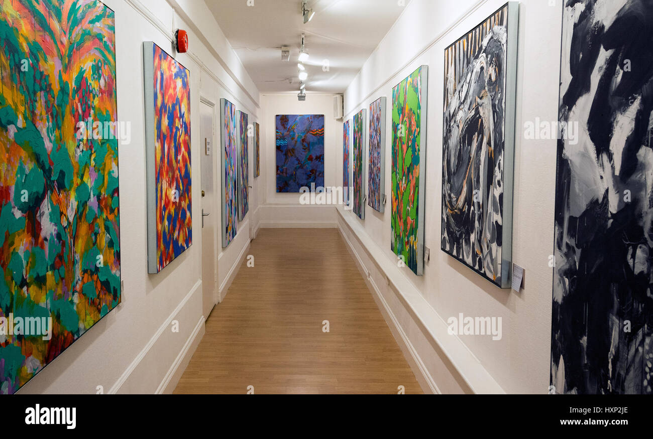 Art exhibition 'Secrets' by Patrick Butler at the Strand Gallery, London, UK - Stock Image
