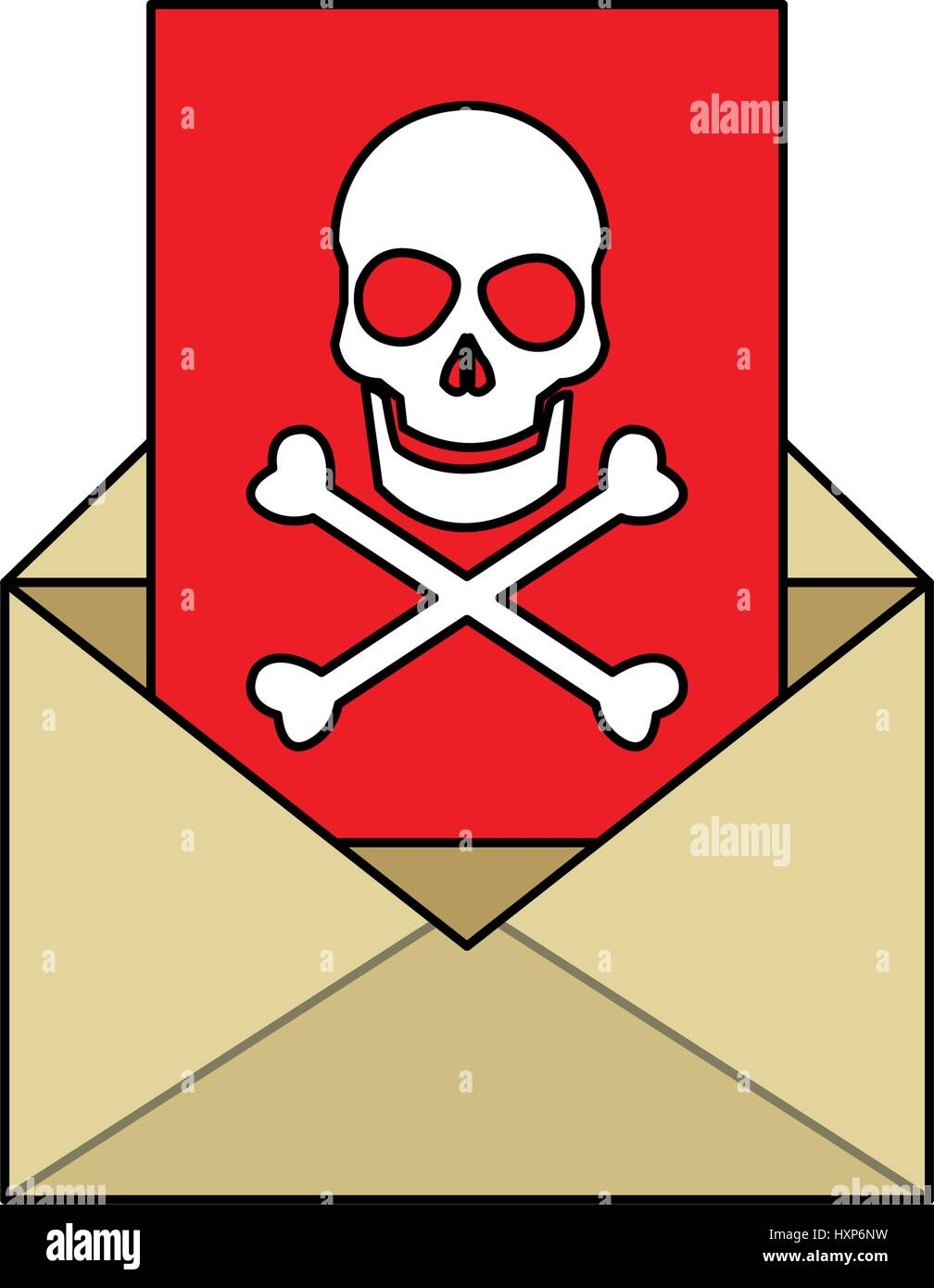 mail with virus icon image  - Stock Image