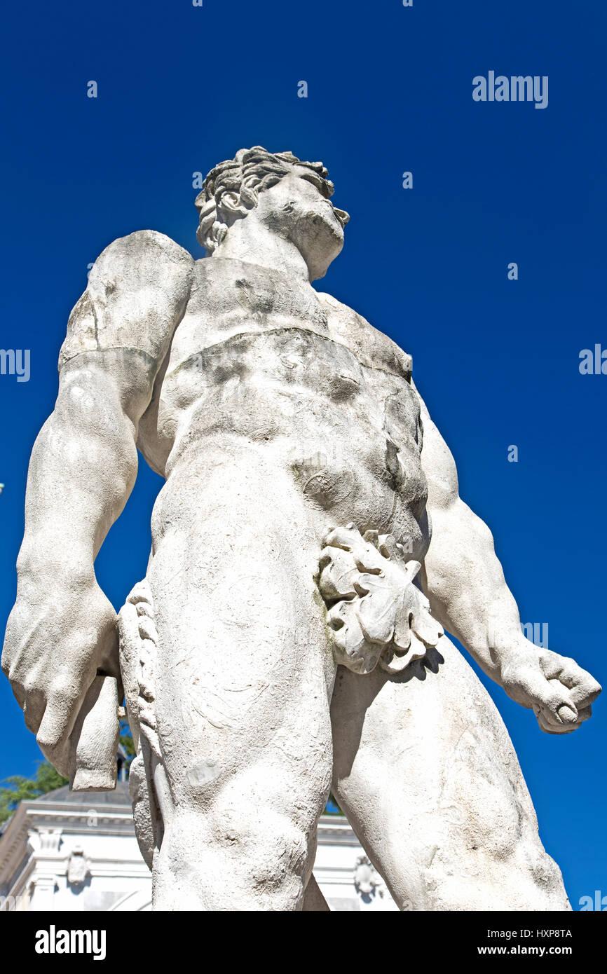 Udine, the statue of Hercules in Piazza della Libertà - Stock Image
