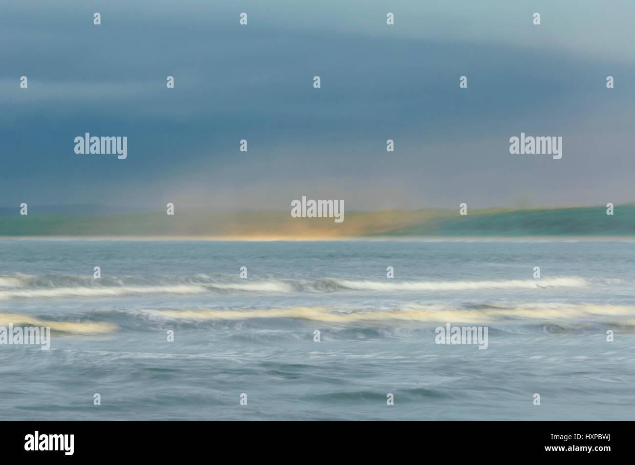 Ethereal view of Seven Mile Beach, Gerroa, Illawarra Coast, New South Wales, NSW, Australia - Stock Image