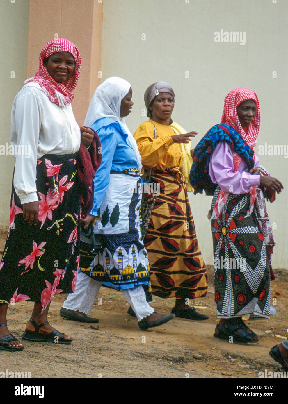 Muslim women in Blantyre, Malawi, Central Africa - Stock Image