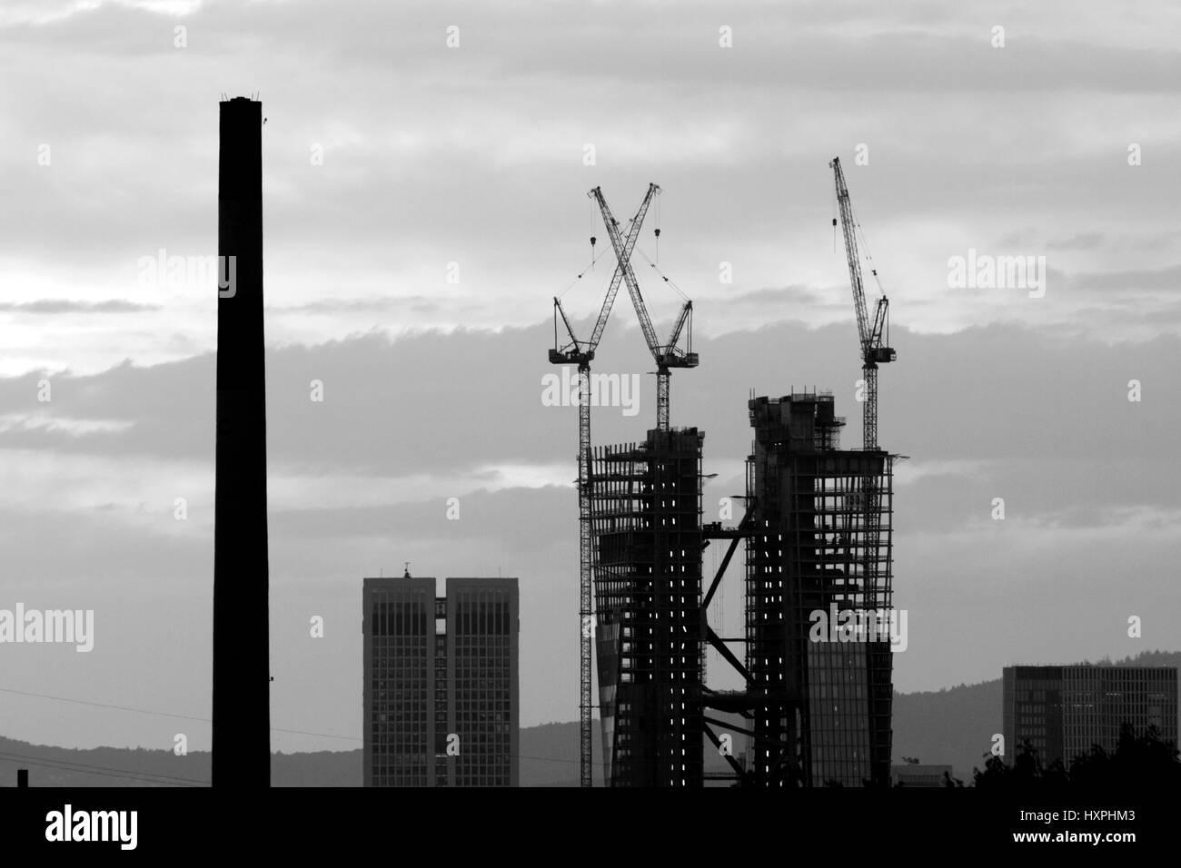 high rises hochhuser stock image - Muster Huser