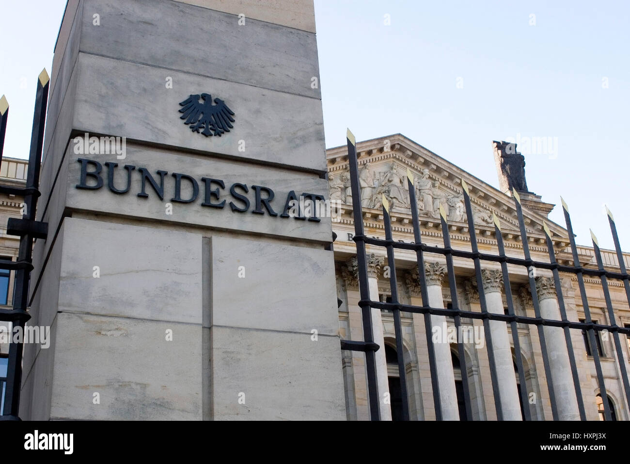 Building of the German Bundesrat in Berlin (no Pr, but from one ?-ffentlichkeit accessibly point from taken up), - Stock Image