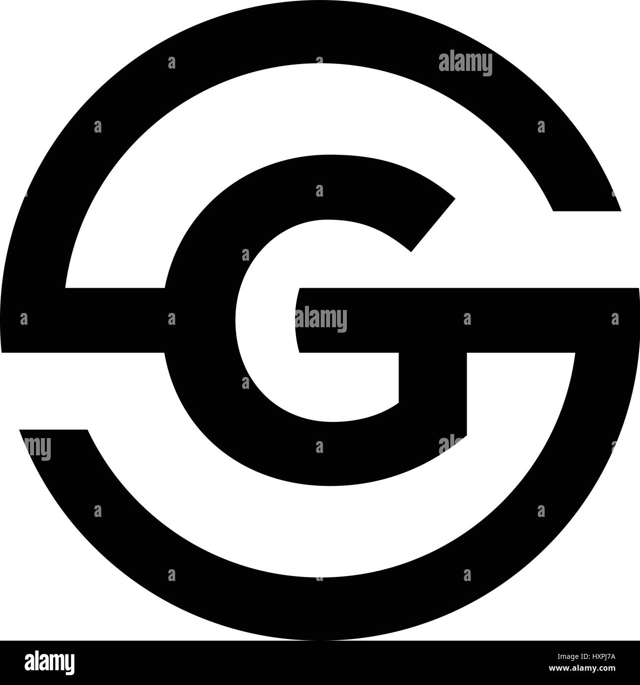 Letter S Symbol Combination With G Stock Vector Art