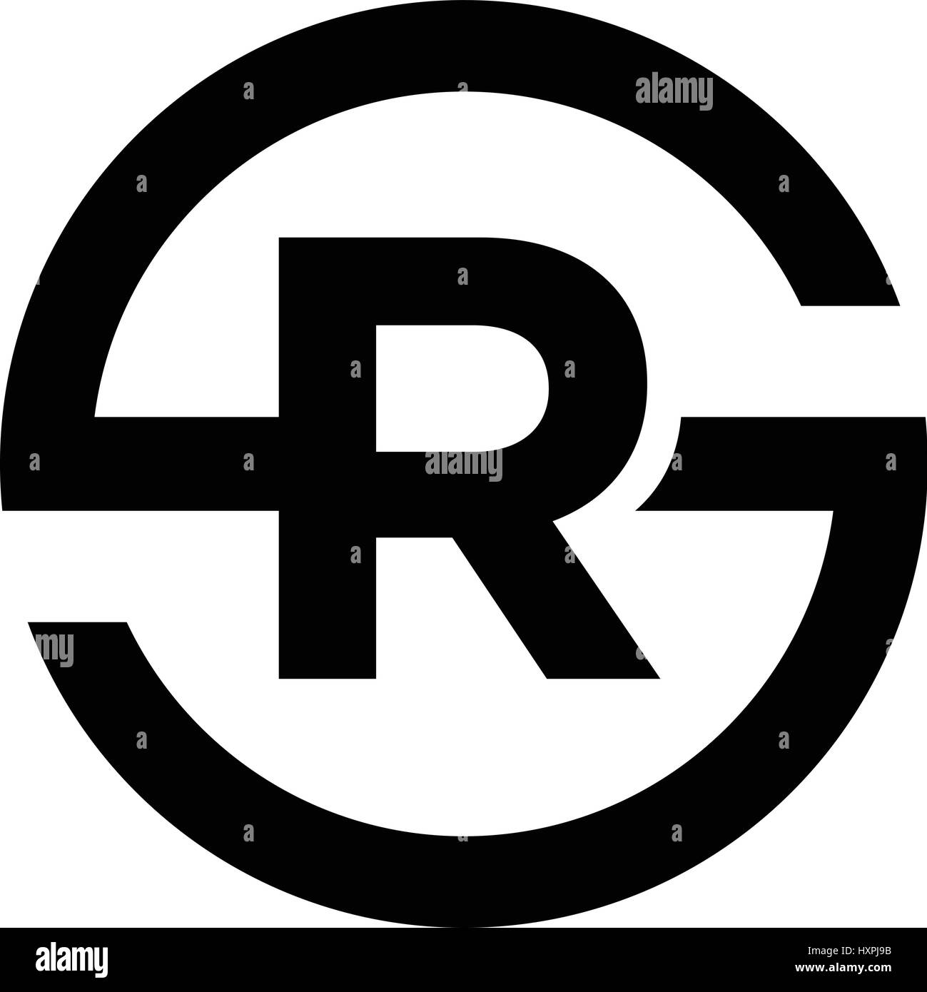 Letter S Symbol Combination With R Stock Vector Art Illustration