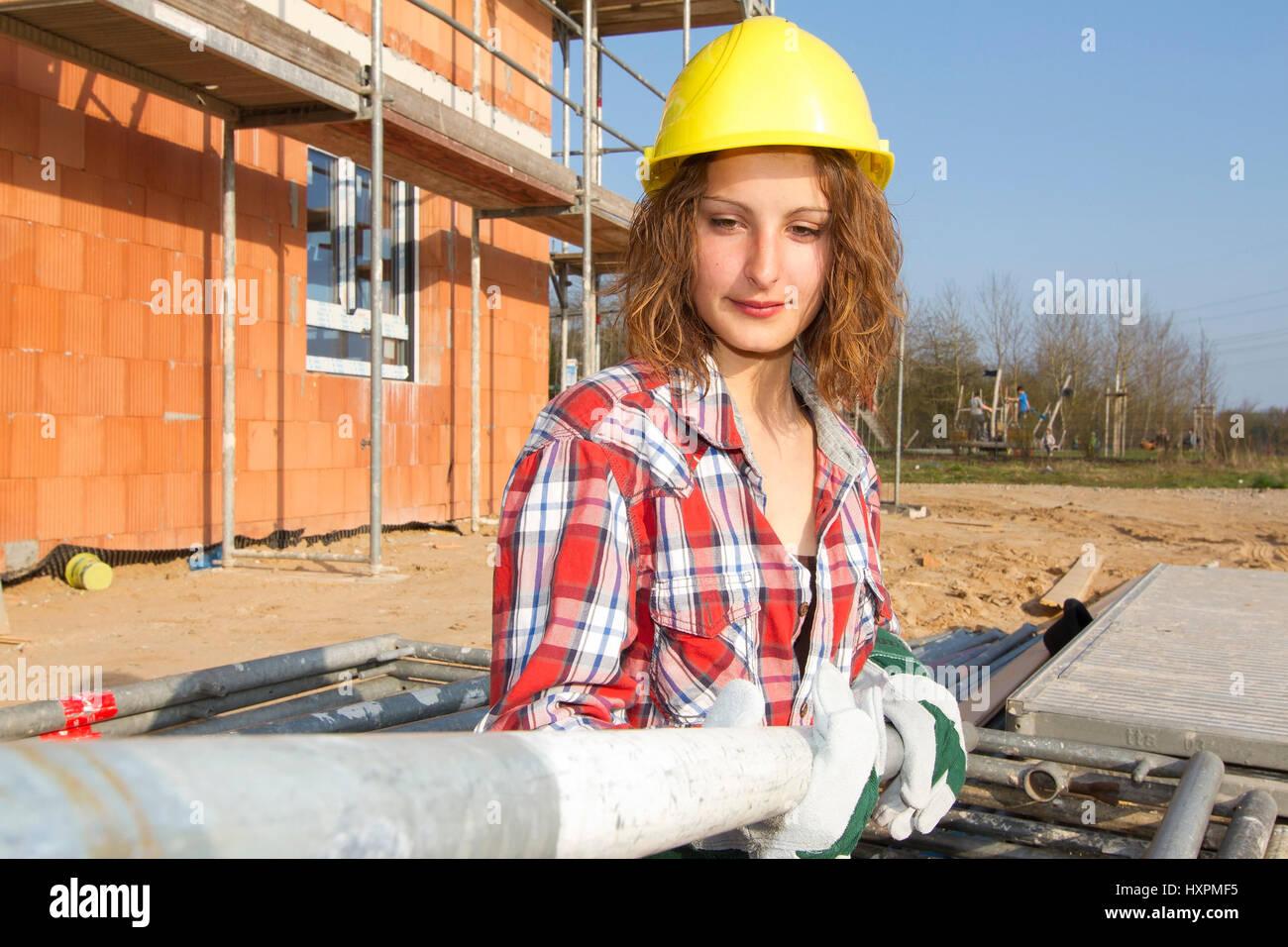 Bauarbeiterin Stock Photos Bauarbeiterin Stock Images Alamy