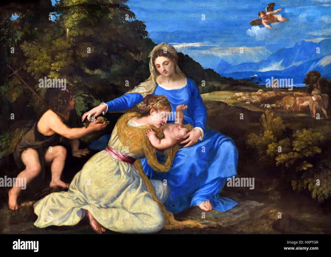 The Aldobrandini Madonna  1532, Tiziano Vecelli or Tiziano Vecellio1490 – 1576) Titian Italian painter 16th-century - Stock Image