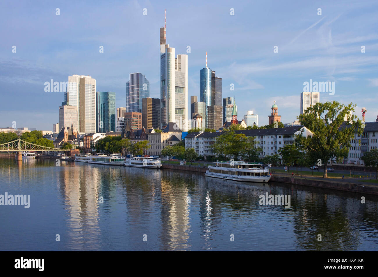 Germany, Hessen, Frankfurt am Main, bank quarter, Deutschland,Hessen,Frankfurt am Main,Bankenviertel - Stock Image