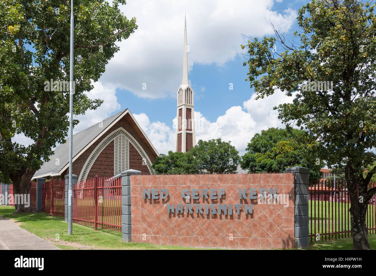 Ned Geref Kirk (Afrikaans Reformed Church), Joost Street, Harrismith, Free State Province, Republic of South Africa - Stock Image