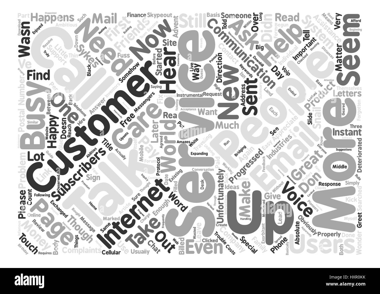 How About Some Customer Service Please Word Cloud Concept Text Background - Stock Image