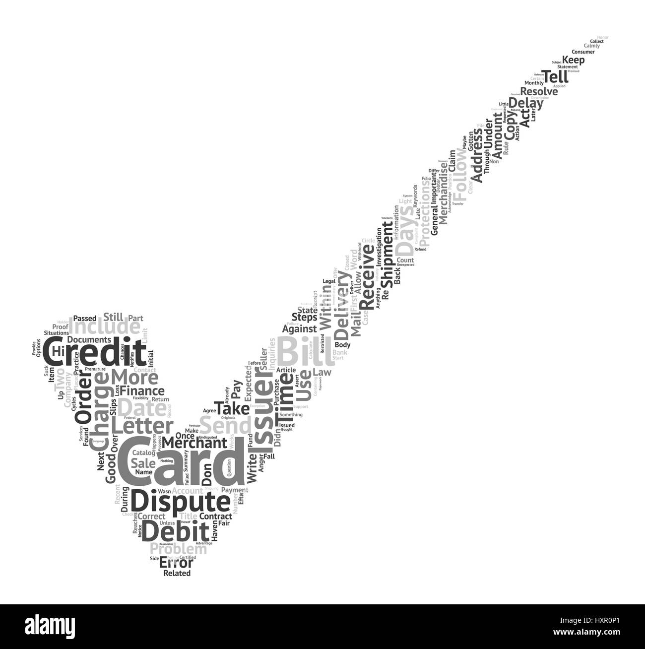 How Do You Dispute An Error On Your Credit Card Word Cloud Concept Text Background - Stock Image