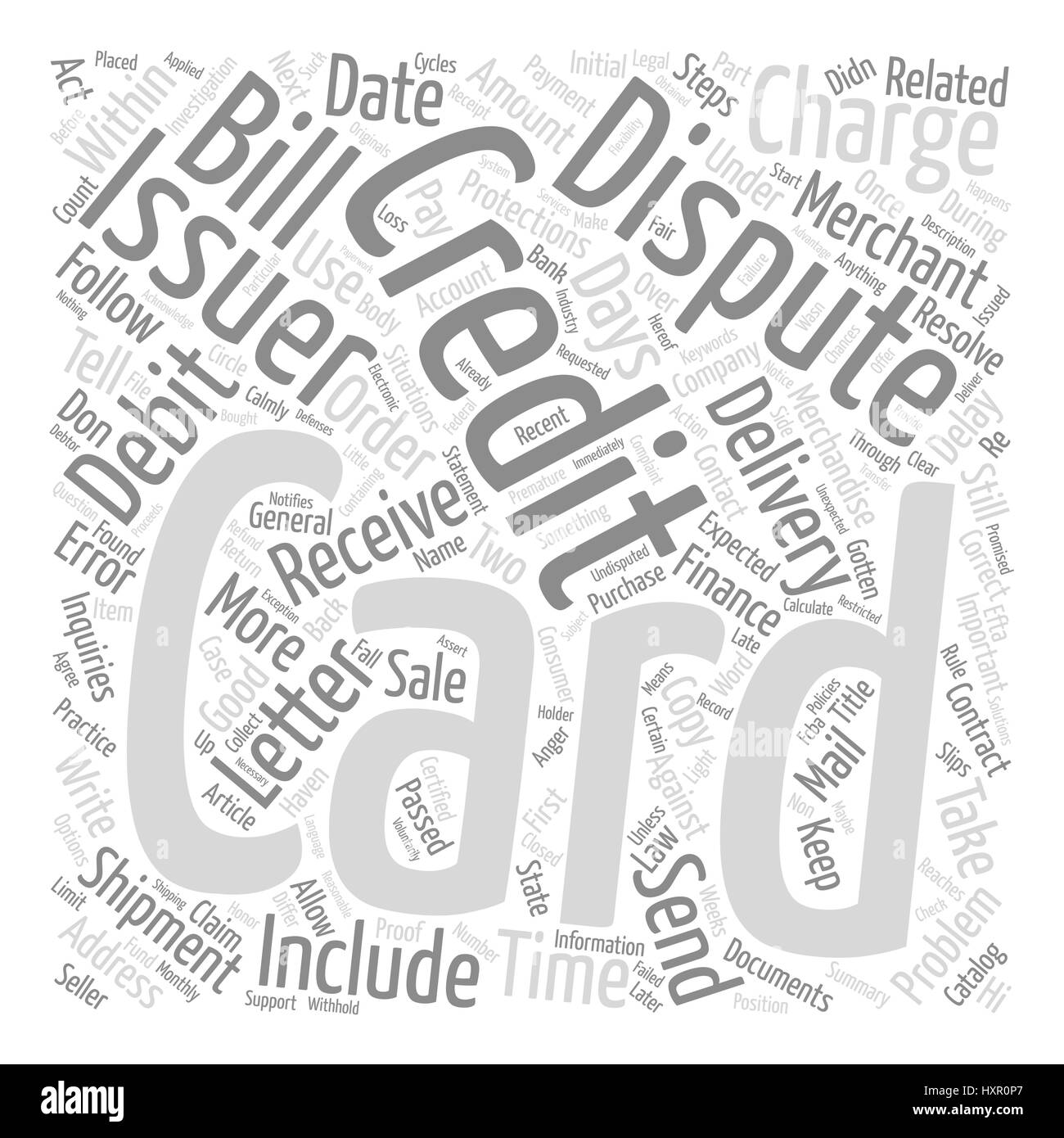 How Do You Dispute An Error On Your Credit Card text background word cloud concept - Stock Image
