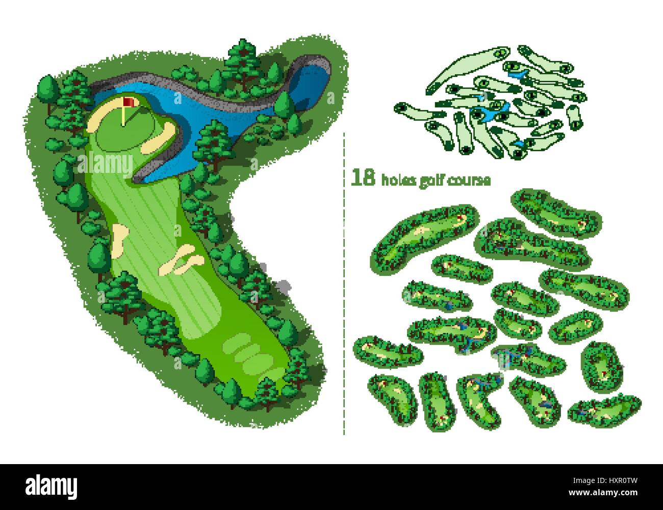 Golf Course Layout High Resolution Stock Photography And Images Alamy