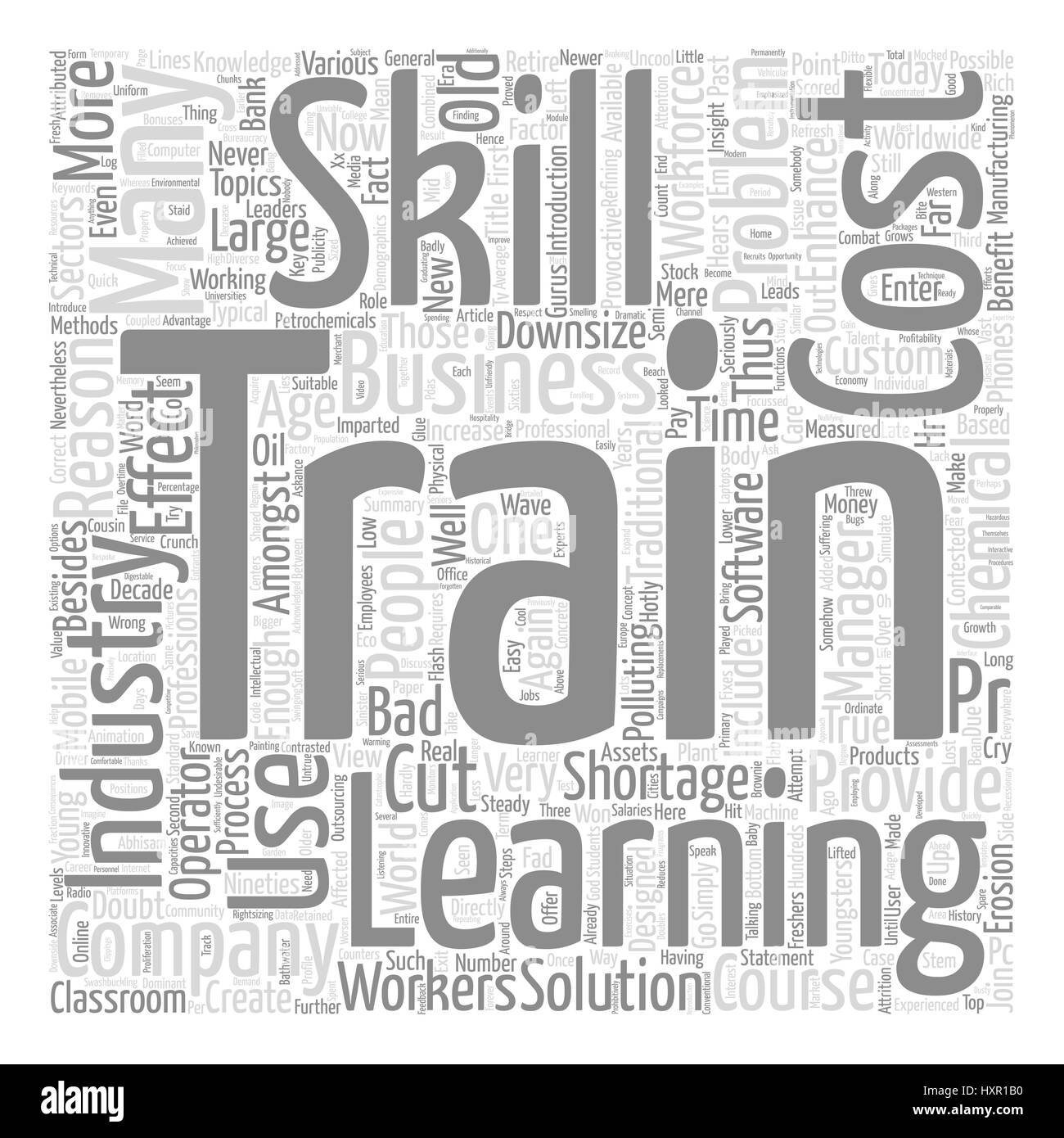 How To Combat The Worldwide Skills Shortage text background word cloud concept - Stock Image