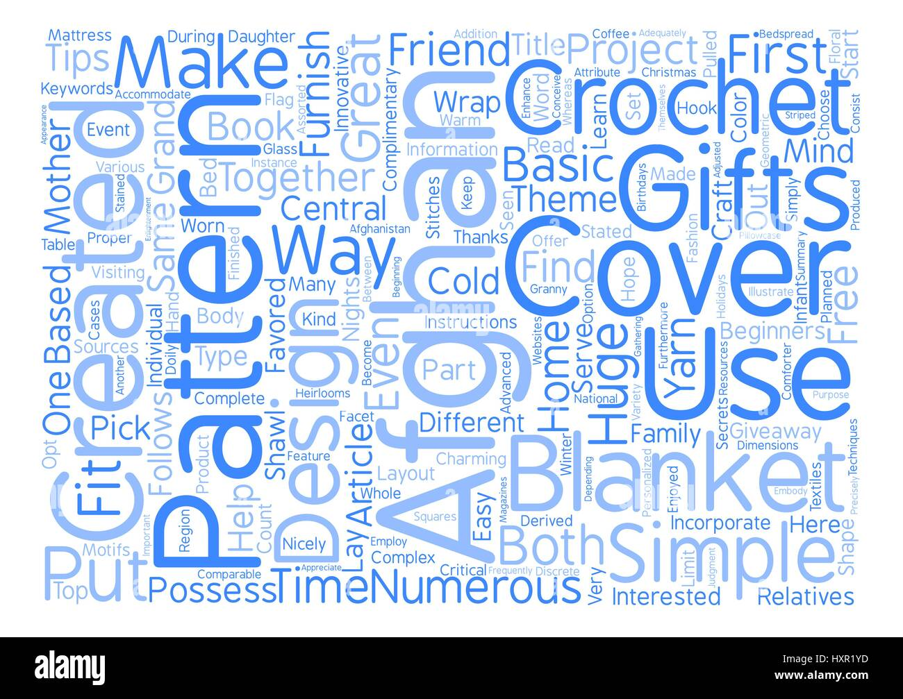 How to Make Great Gifts with Crochet Afghan Patterns text background word cloud concept