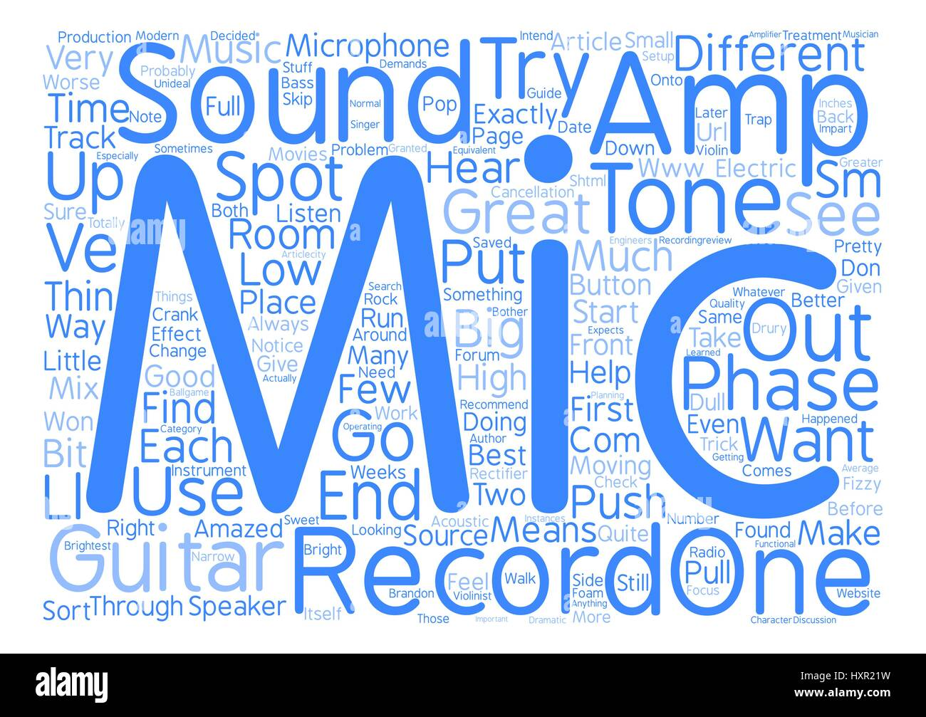 How To Mic An Electric Guitar text background word cloud concept - Stock Vector
