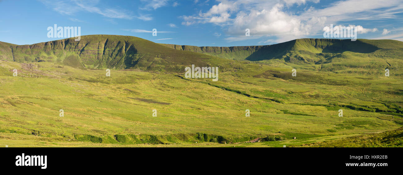 The Nire Valley, Comeragh Mountains, County Waterford, Ireland, is renowned for its glacially sculpted corries on - Stock Image