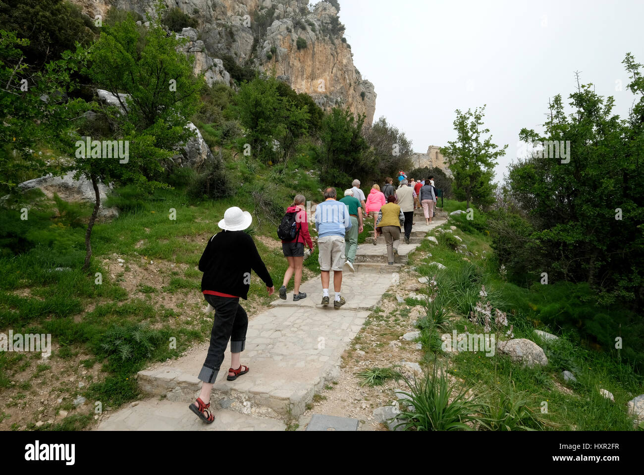 St Hilarion Castle, Kyrenia, Northern Cyprus. - Stock Image