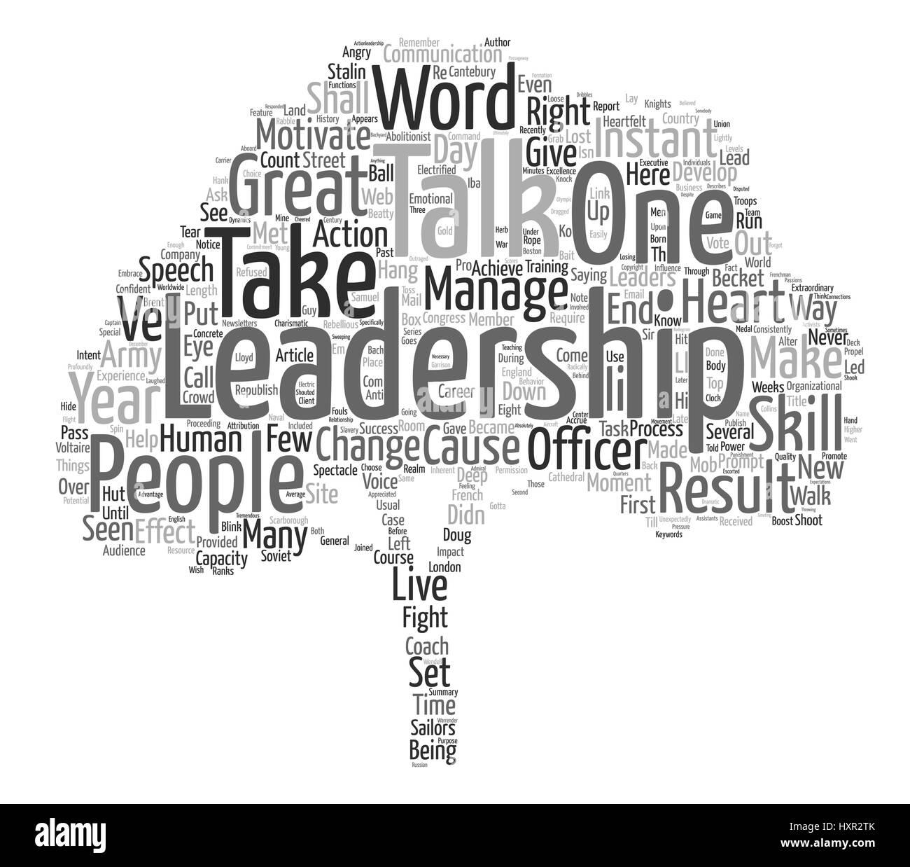 Instant Leadership Talks text background wordcloud concept - Stock Vector