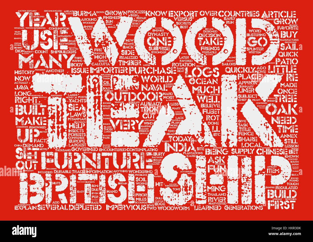 Is Teak Wood Outdoor Furniture Right For Me text background wordcloud concept - Stock Vector