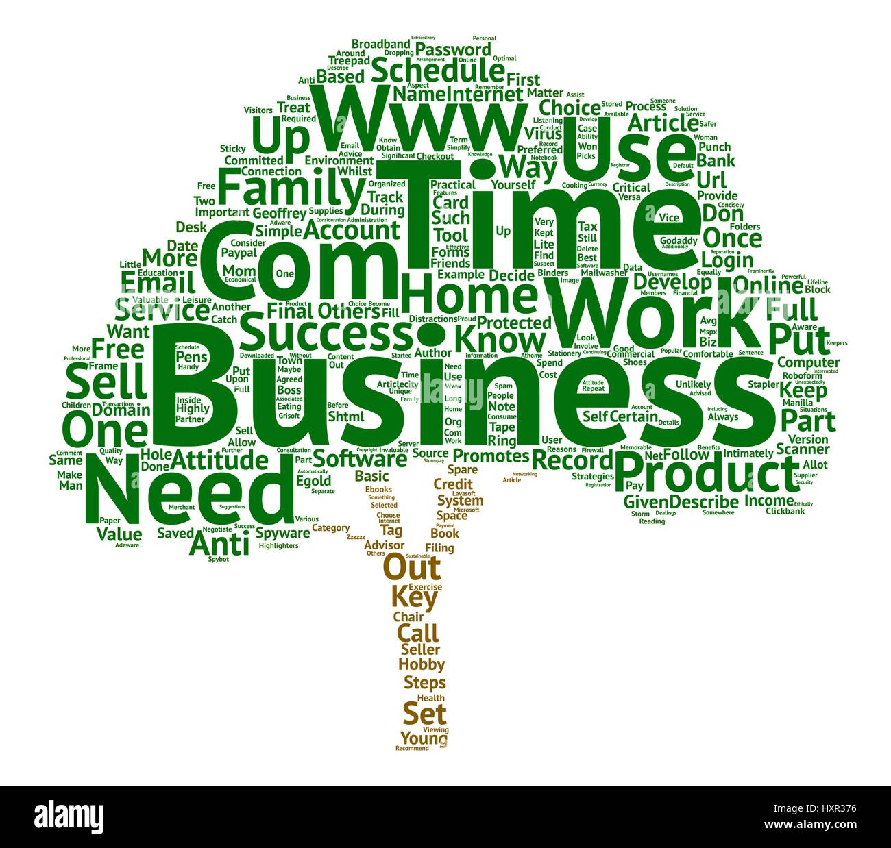 Key Strategies for Success in a Home Based Business text background word cloud concept - Stock Vector