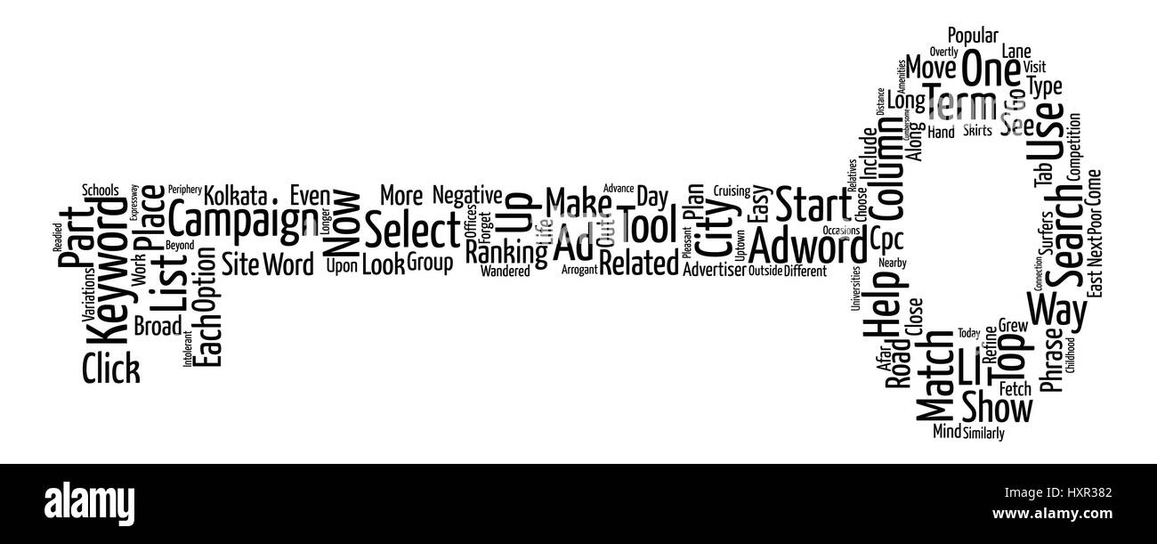 Keywords Trust Adwords text background word cloud concept - Stock Vector