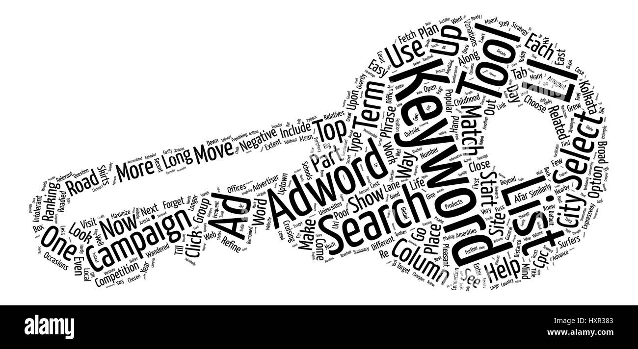 Keywords Trust Adwords Word Cloud Concept Text Background - Stock Vector