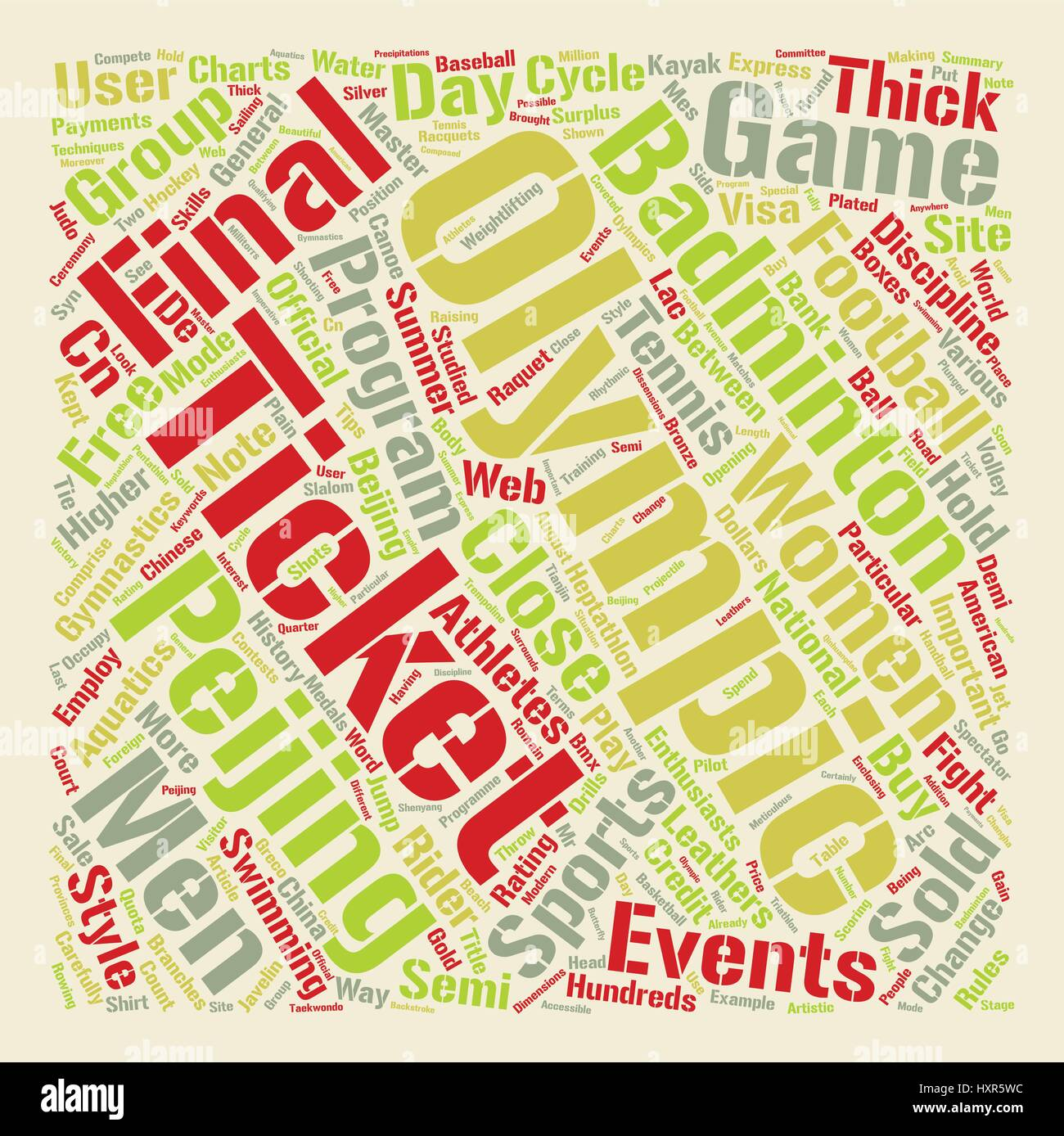 Sports And The Oylmpics text background word cloud concept - Stock Vector