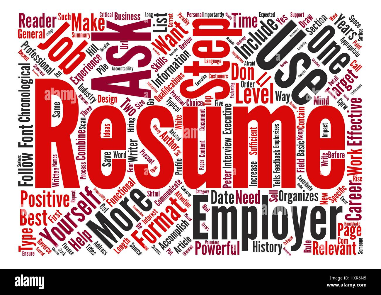 The Step Resume Critique Text Background Word Cloud Concept Stock