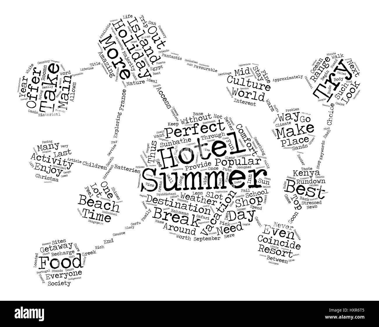 The Top Summer Getaways text background word cloud concept - Stock Vector