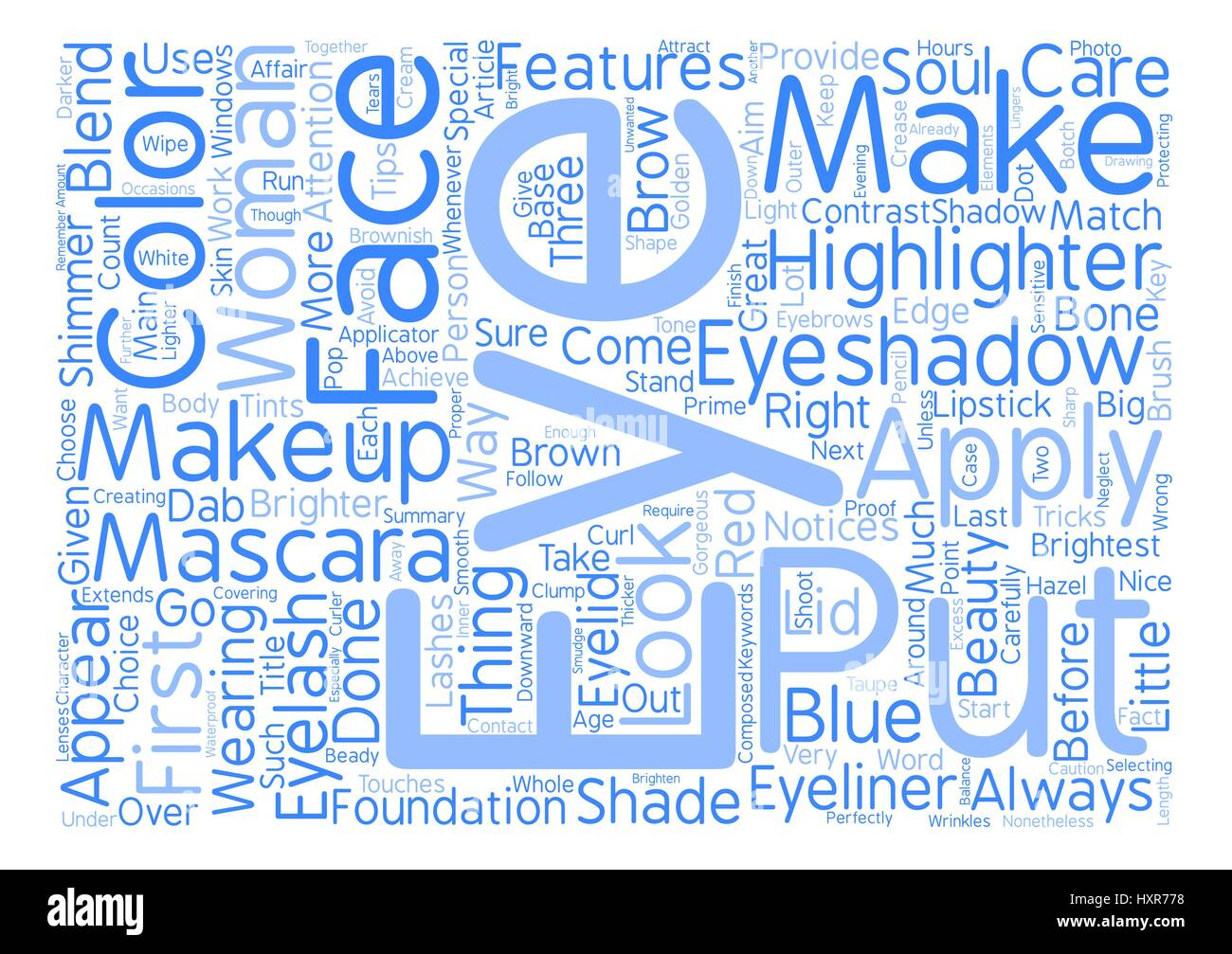 Tips And Tricks With Eye Makeup And Eyeshadow Word Cloud Concept