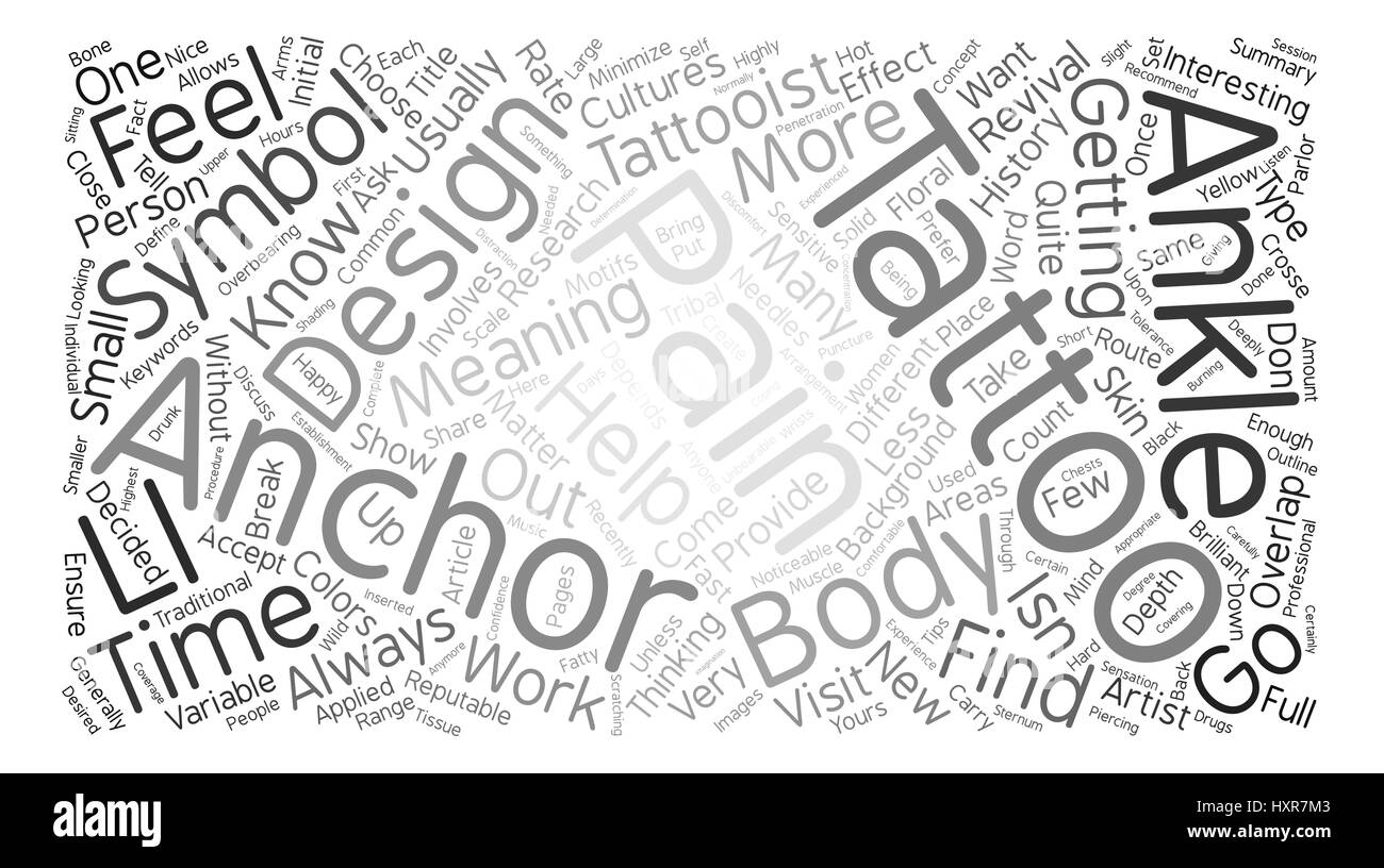 About Tattoo Word Cloud Concept Text Background Stock Vector Art