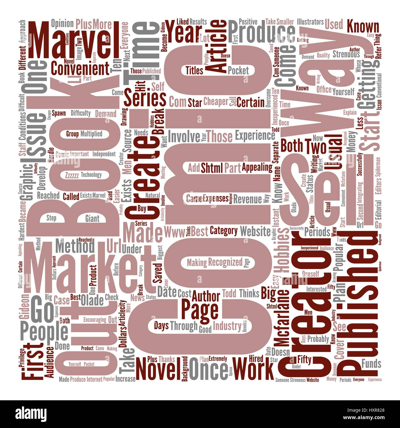 An Approach To Sell Comics text background word cloud concept - Stock Image